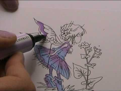 HOW TO BLEND TWO DIFFERENT COLOURS USING PROMARKERS