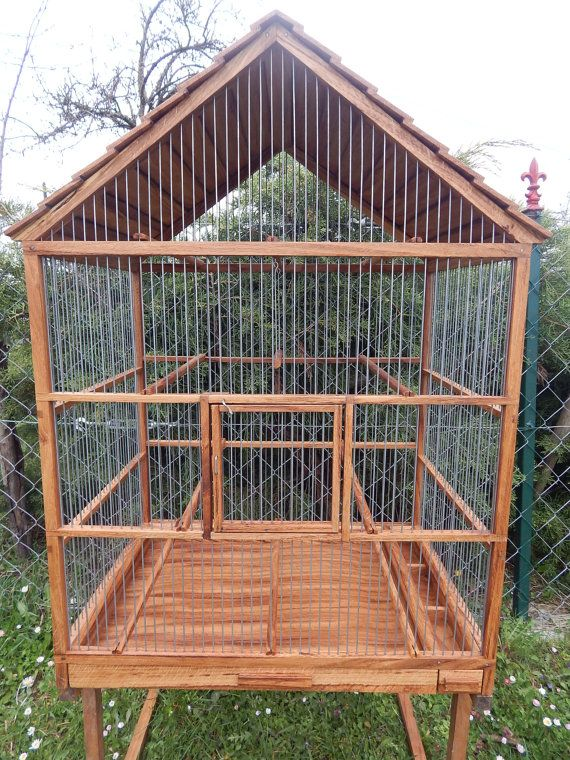 Bird Cage Wooden Handmade by birdworld77 on Etsy