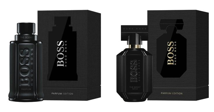 New limited editions of Boss The Scent fragrances After the Intense flankers for her and him that came out in the summer of 2017, Hugo Boss presents new limited versions of the original fragrances Boss The Scent (2015) and Boss The Scent for Her (2016) in November 2017 - named Boss The Scent Parfum Edition and Boss The Scent for Her Perfume Edition. These new editions come in completely black bottles and boxes, in line with the Black on Black ca
