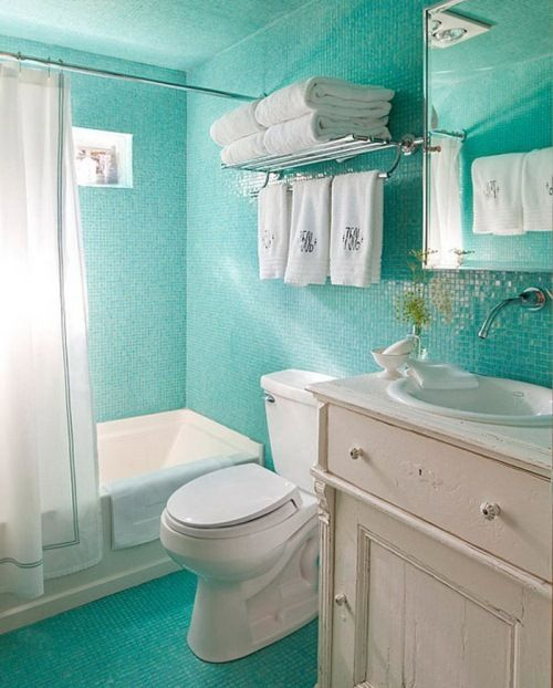 Create Photo Gallery For Website Striking Small Bathroom Tile Ideas In Blue With Toilet For Best Color Scheme With White Toilet And Bathtub Design Idea