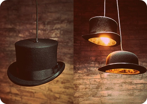 32 best hat lamp shades glitter shades images on pinterest the hat pendant lamps are made with classic british cultural icons an authentic bowler hatjeeves lamp and an authentic top hatwooster lamp mozeypictures Images