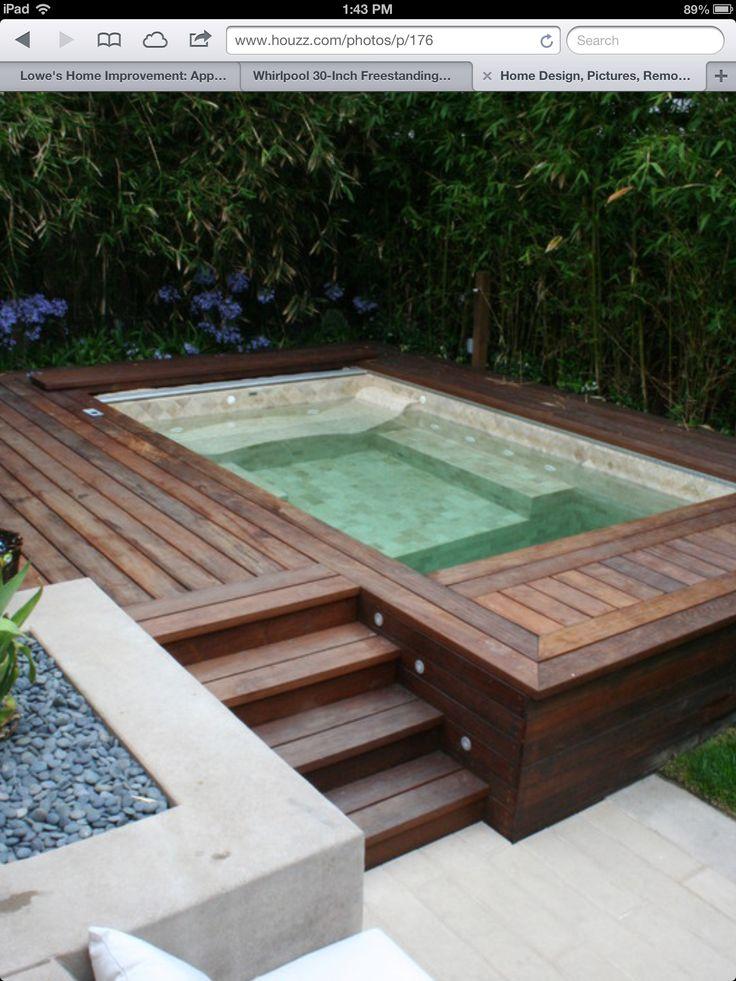 176 besten kleiner pool im garten bilder auf pinterest verandas mini pool und pool spa. Black Bedroom Furniture Sets. Home Design Ideas