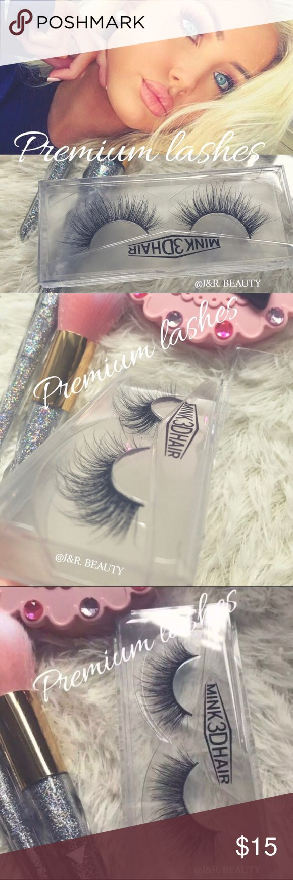 Premium Mink Eyelashes All brand new include  ✨PREMIUM 100% mink hair eyelashes 1 pair ✅super soft and comfortable  ✅super curl ✅super natural  Up to 25 wears with proper care❣️   +$2 Add on eyelash Applicator  +$3 Add on eyelash glue Please message me if you want to add them.    # tags Iconic, mink, red cherry eyelashes, house of lashes, doll, kawaii, case, full, natural,  Koko, Ardell, wispies, Demi , makeup, Makeup False Eyelashes
