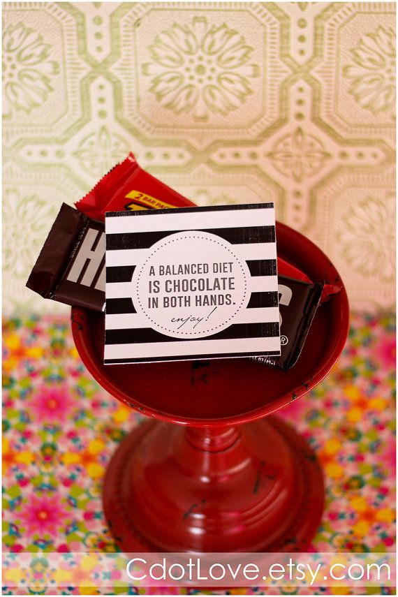 """Girls camp handouts  """"A balanced diet is chocolate in both hands!""""  #LDS #YoungWomen #GirlsCamp"""