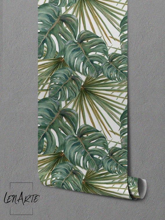 Piante esotiche wallpapermurale tradizionalefoglie