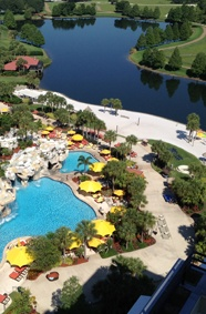 Orlando's Hyatt Regency Grand Cypress sits on 1,500 acres with 3 golf courses. Now that's a lot of golf.