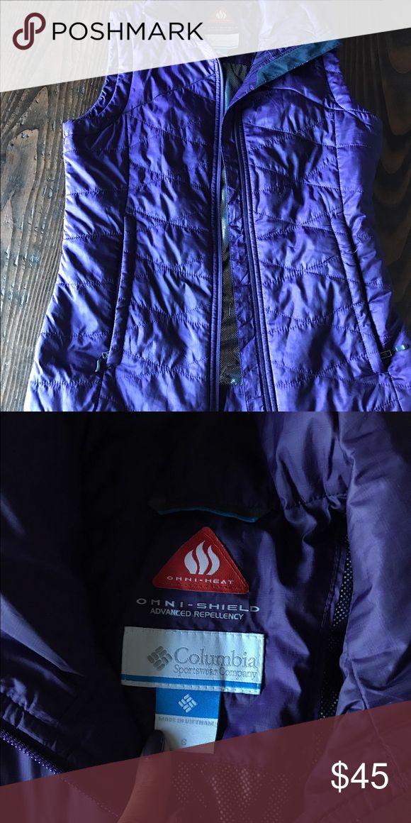 Columbia Purple Vest Purple Vest, light, good condition Columbia Jackets & Coats Vests