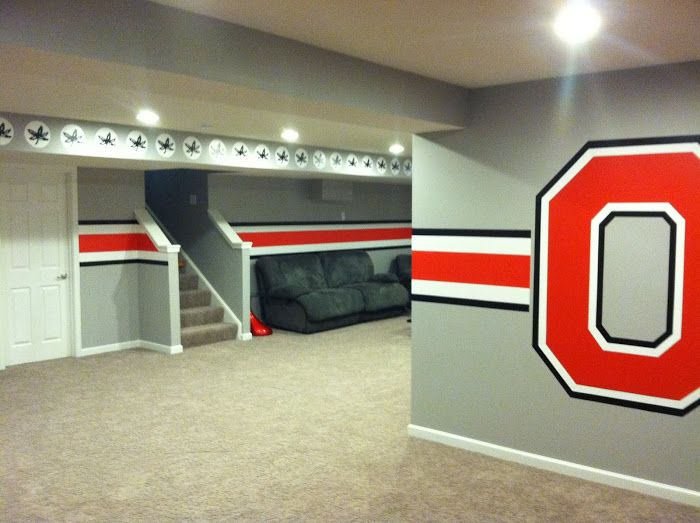 Here Is What My Basememt Needs To Be Like One Day Ohio State Bat How Fun
