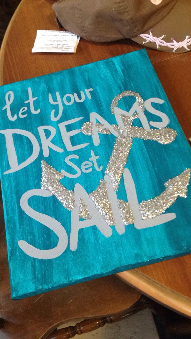 Anchor glitter canvas #ArtProject
