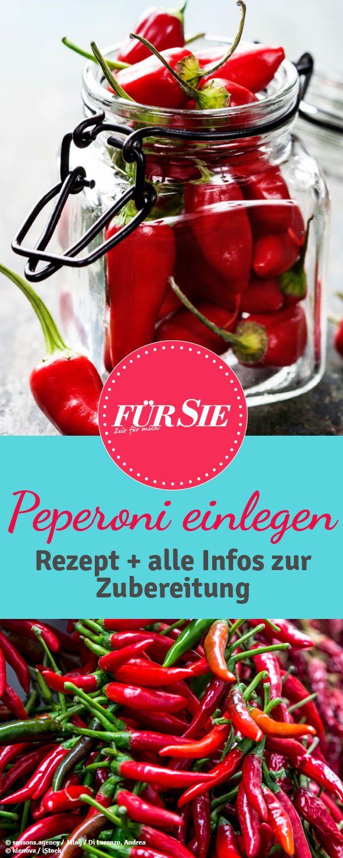 Peperoni einlegen: Wir zeigen wie es funktioniert und was Ihr beachten müsst. Mit unseren Tipps gelingt es ganz leicht: http://www.fuersie.de/kochen/special-einmachen/artikel/peperoni-einlegen-anleitung-und-rezept