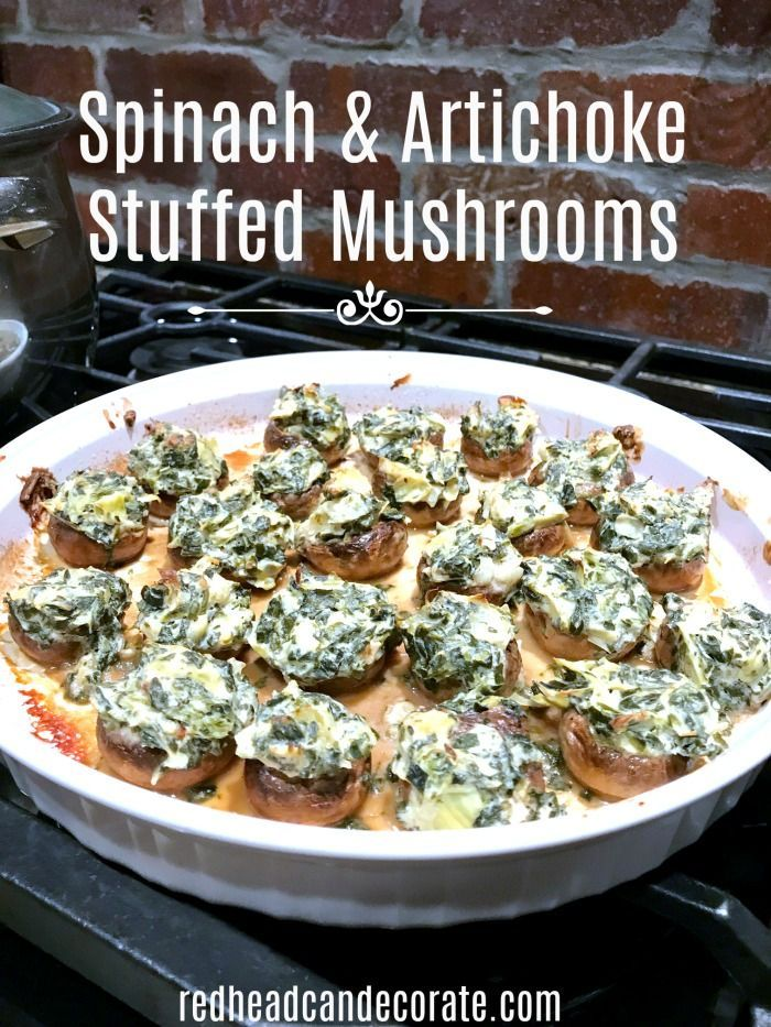 These stuffed mushrooms sound easy to make and are also low carb!