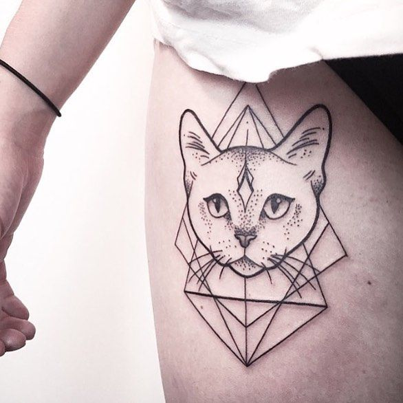 Cat Tattoos Every Cat Tattoo Design Placement And Style: 25+ Best Ideas About Geometric Cat Tattoo On Pinterest