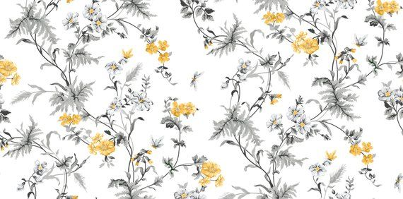 Removable Wallpaper Yellow Flowers Wallpaper Self Adhesive Etsy Black And Blue Wallpaper Wallpaper Designs For Walls Pink And Grey Wallpaper