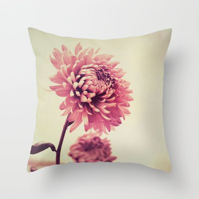 Autumn/秋菊 2  Throw Pillow by Katherine Song  - $20.00