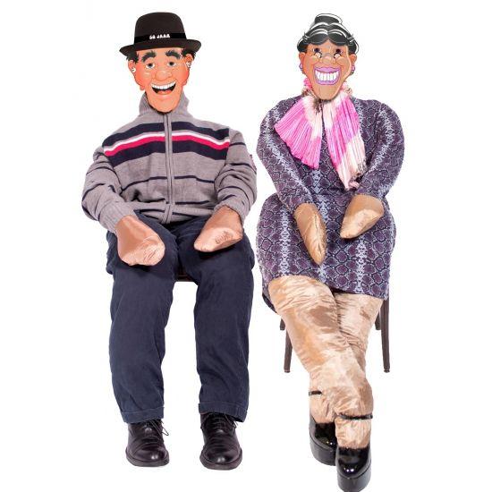 Abraham of Sarah pop 185 meter  Abraham of Sarah pop. Pop zonder vulling die als Abraham pop of Sarah pop gebruikt kan worden. De pop kan gevuld worden met bijvoorbeeld krantenknipsels of stro en is ongeveer 185 meter hoog. Exclusief masker en kleding.  EUR 12.95  Meer informatie
