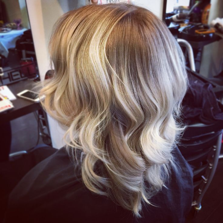 Blonde Balayage with Ghd Waves