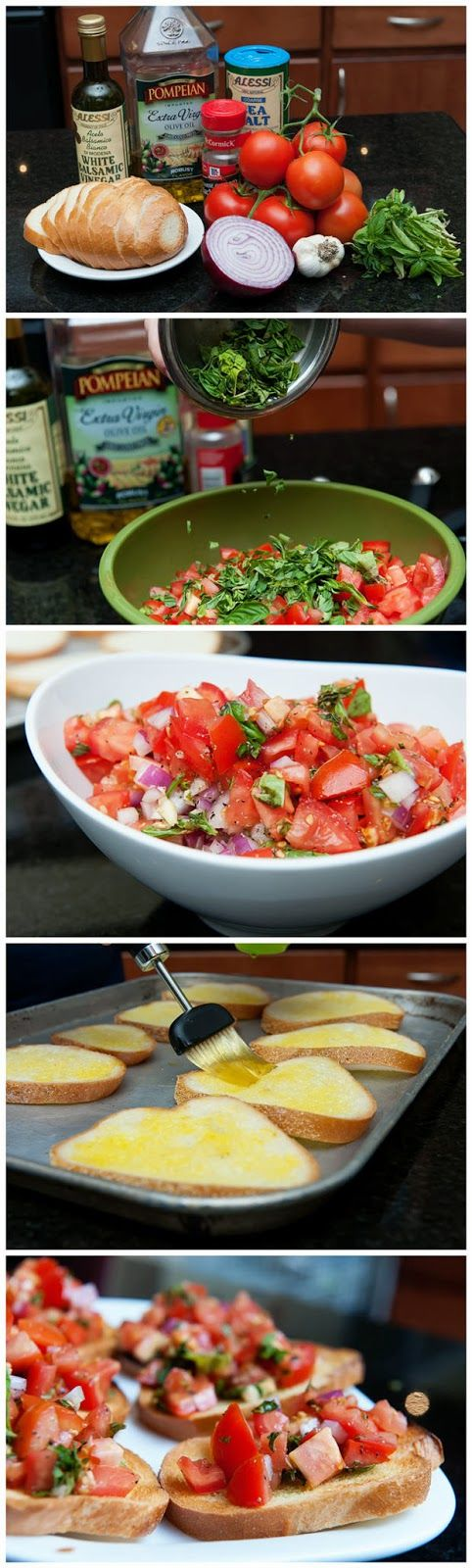 "Ah, the bounty of summer. Italian bruschetta (pronounced ""brusketta"") is a wonderful way to capture the flavors of ripe summer tomatoes, fre..."