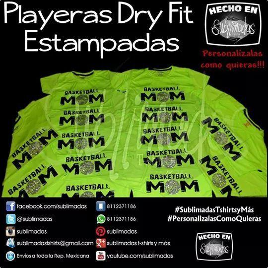 Playeras Dry Fit Cuello Redondo (c/Glitter) - Basketball Mom  #SublimadasTshirtsyMás #PersonalizalasComoQuieras