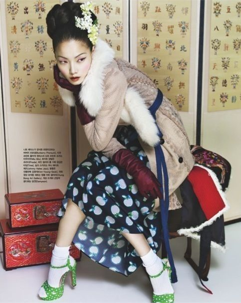 Winter Flowers by Bo Lee for Vogue Korea... - Street Fashion