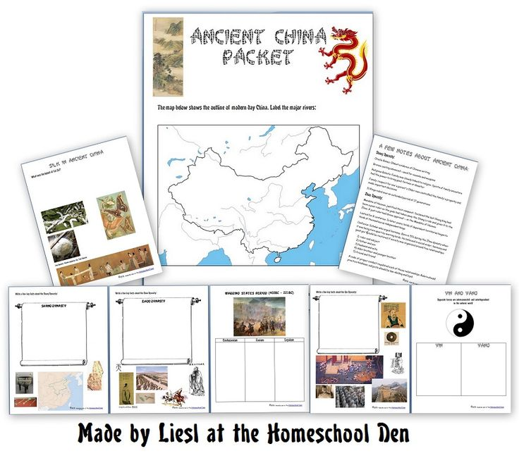 Ancient China Unit - Notebook Pages on the early dynasties, silk, yin-yang and more