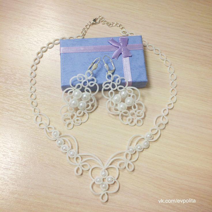 Фриволите кружевные украшения на свадьбу