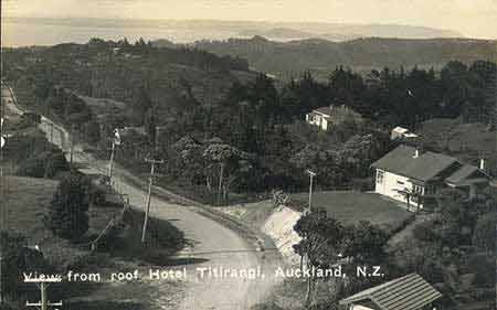 View from the roof of Hotel Titirangi, Auckland, NZ.