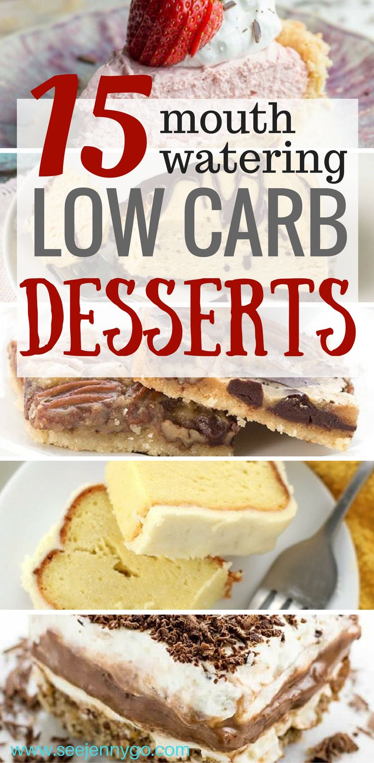 Finally some delicious low carb desserts that will make dieting easier!