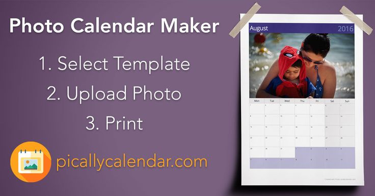 Create your free printable PDF photo calendar online with picallycalendar.com