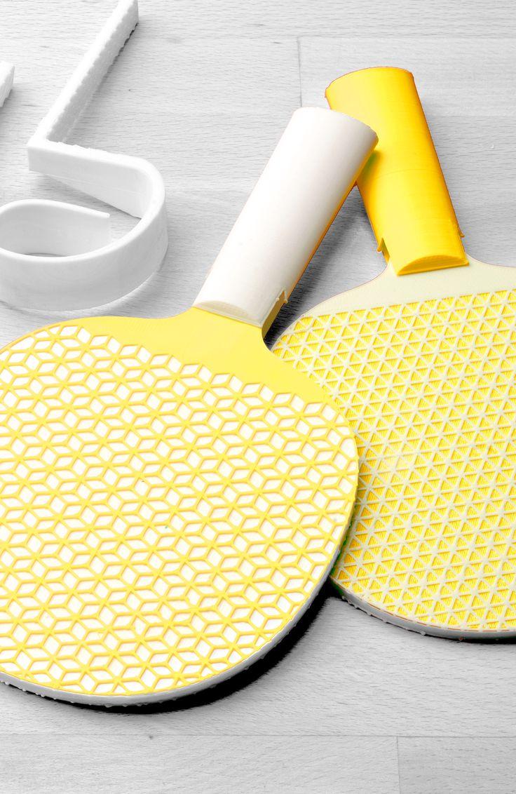 3D Printed Ping Pong Paddles 確かにこれから3Dプリントで卓球のラバーも作れるようになるのか。今までにないラケット作れそう