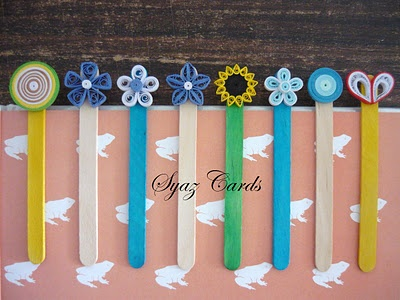 Popsicle Stick bookmarks, I think we'll use buttons instead.