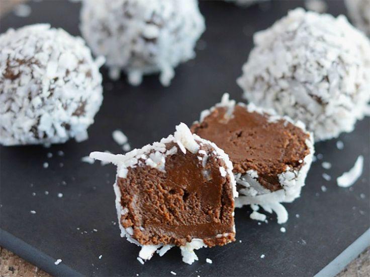 vegansk efterrätt,  chokladtryfflar av avokado