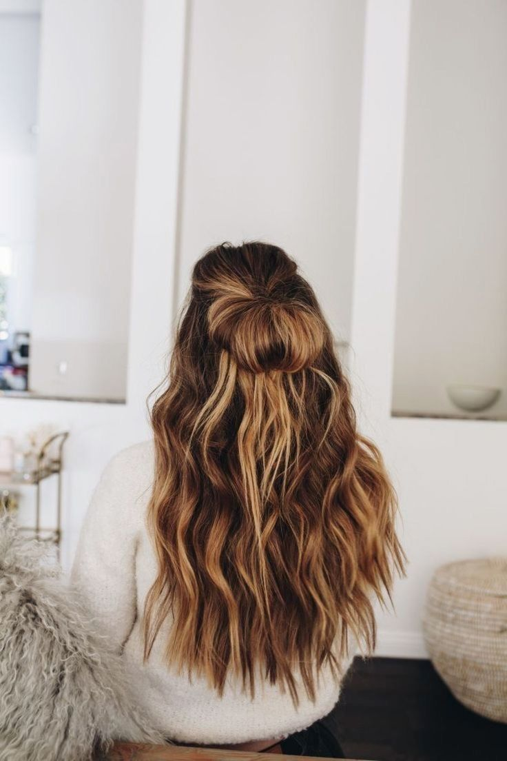 Huge 2020 Hairstyle List The 9 Hottest Trends To Be Obsessed With Ecemella Half Up Half Do In 2020 Long Hair Styles Hair Styles Cool Hairstyles