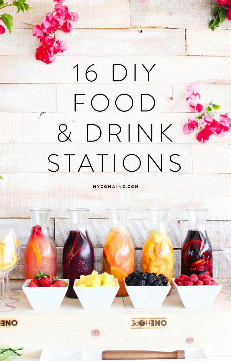 DIY food & drink stations you need at your next party! www.refugemarketing.com