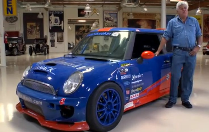 """Celeb Jay Leno Drives A Mean 500HP #MINI Cooper """"When one engine's not enough, why not get two?"""" Click to watch the video!"""