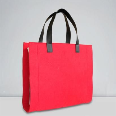 2087 designer woman's handbags/ woman's totes/ woman's holdall in red felt