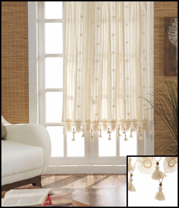 Pentru a crea o atmosfera placuta si relaxanta in casa, ai nevoie de accesorii deosebite pentru amenajare. Iti propunem perdeaua Valentini Bianco PR031 cu ciucurasi, realizata din bumbac fin ce va permite razelor soarelui sa iti lumineze casa.  http://goo.gl/iZISA0