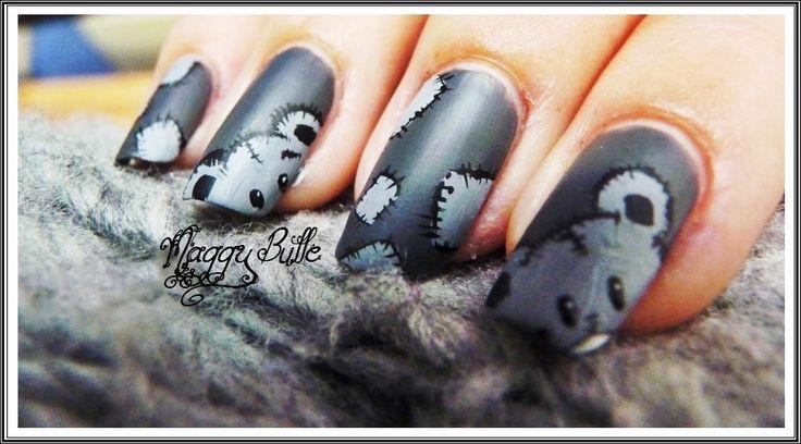 Nail art Teddy Bear
