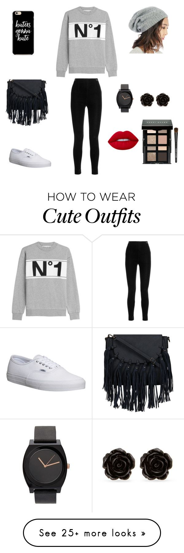 """Cute outfit"" by stuff4m on Polyvore featuring Être Cécile, Vans, Balmain, Sole Society, Erica Lyons, Lime Crime and Bobbi Brown Cosmetics"