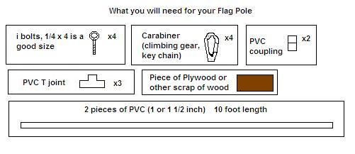 Build your own portable flag pole for cheap! By:Jaybez - CockyTalk