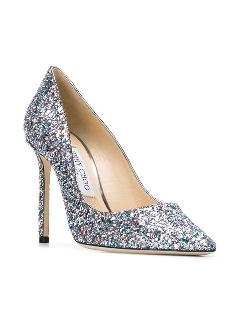 5e2da1dcb032 Jimmy Choo Romy 100 Pumps  675 - Buy AW18 Online - Fast Global Delivery