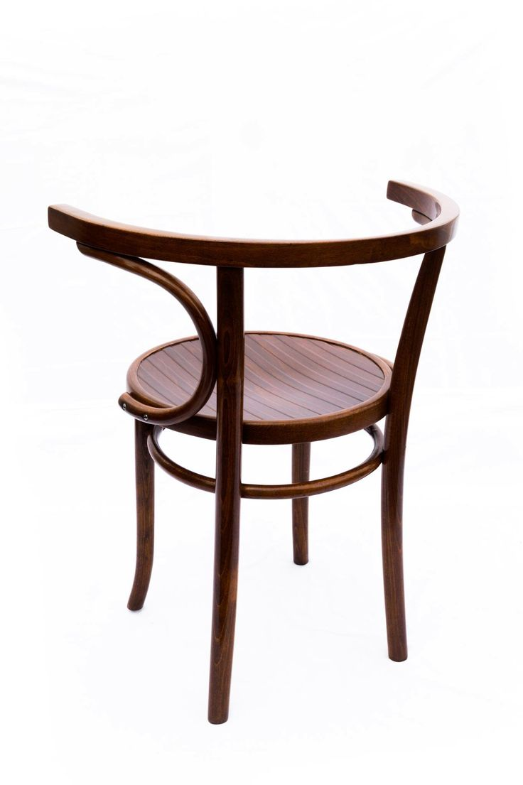 Vintage thonet style cafe chairs with stenciled seats - Bentwood Armchairs By Thonet