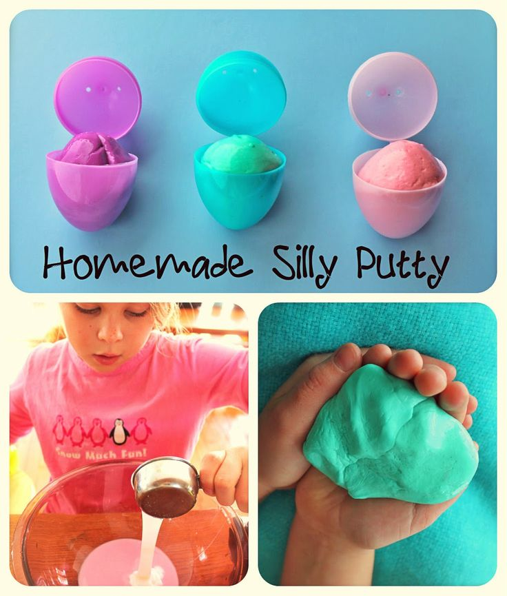 Twig and Toadstool: Homemade Silly Putty Eggs