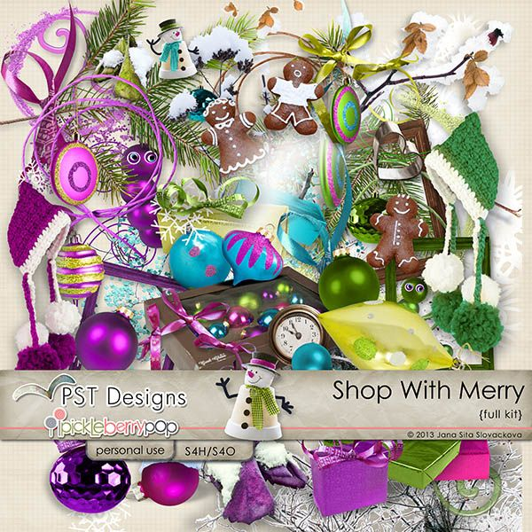 Shop With Merry  digiscrapbook kit  @Pickleberrypop @PST Designs