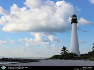The Cape Florida Lighthouse Tower is Open - Monday, Thursday, Friday, Saturday and Sunday from 10 to 11 a.m. and 1 to 2 p.m. During tours.