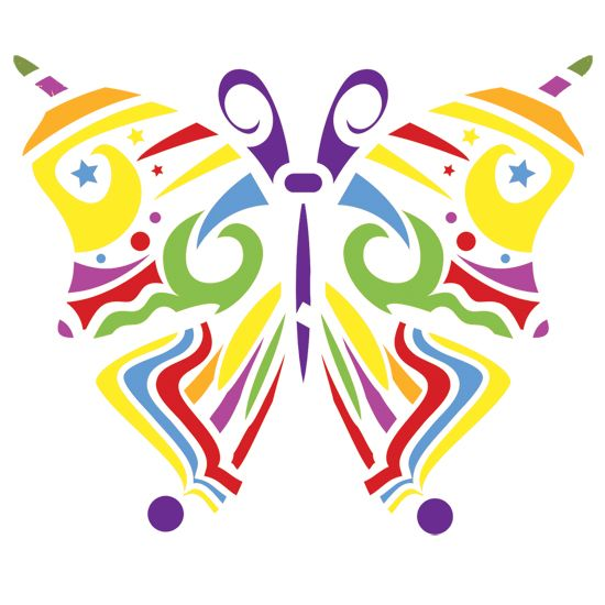 Butterfly Motif Accent Home Decor Stencil