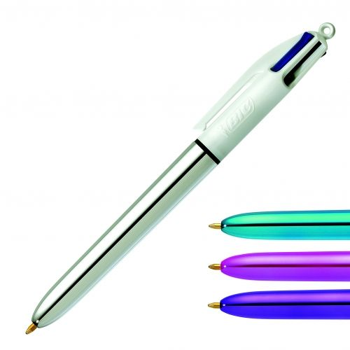 stylo 4 couleurs smiley