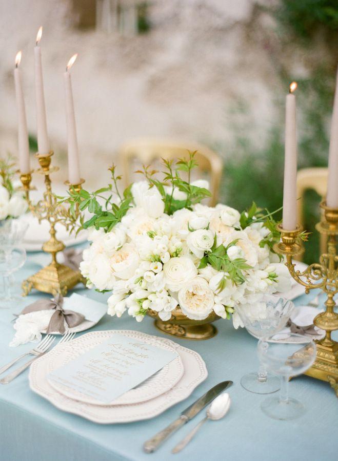 Aquamarine Wedding Table Linen