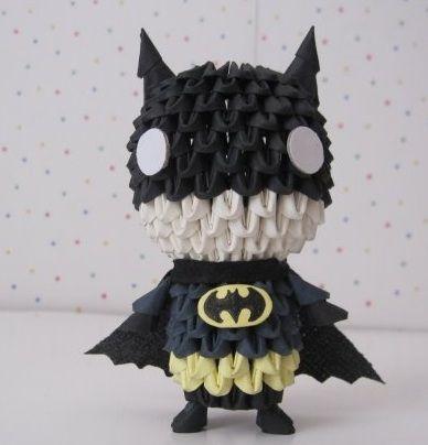 3D Origami - Cute Batman_.