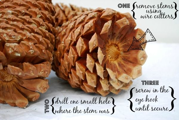 how to make a pinecone garland