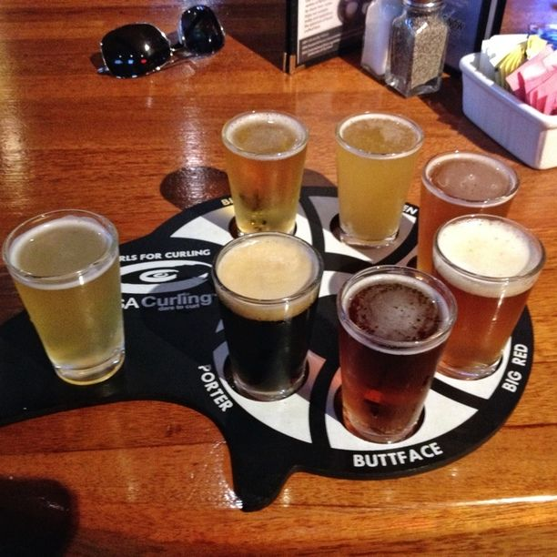 Gordon Biersch, Superior, Colorado — by Michael Schuier. Came in to try the micro brew here. For $5 you get a sampler of all of the beers they offer. A heffenwizen, blonde,...
